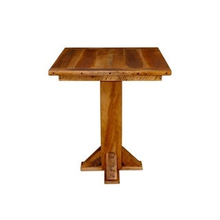 Pedestal Pub Table in Rustic Reclaimed Barnwood
