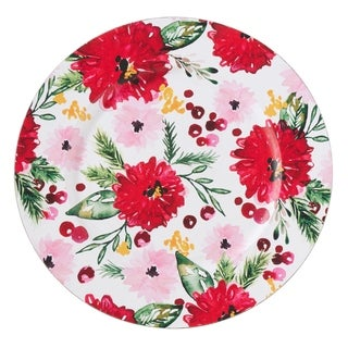 Holiday Design Floral Chargers (Set of 4)