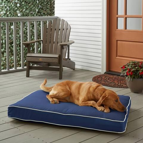 Sunbrella Navy Blue w/ Ivory FoamPet Bed