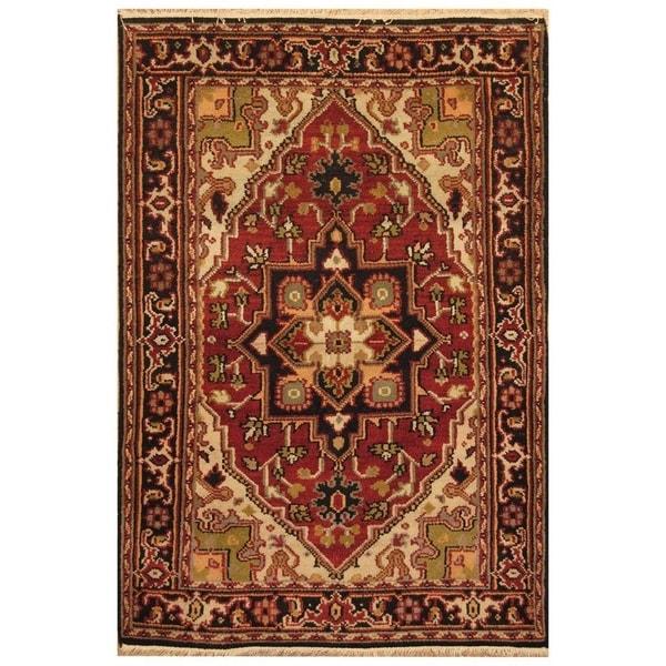 Handmade Serapi Wool Rug (India) - 4' x 6'