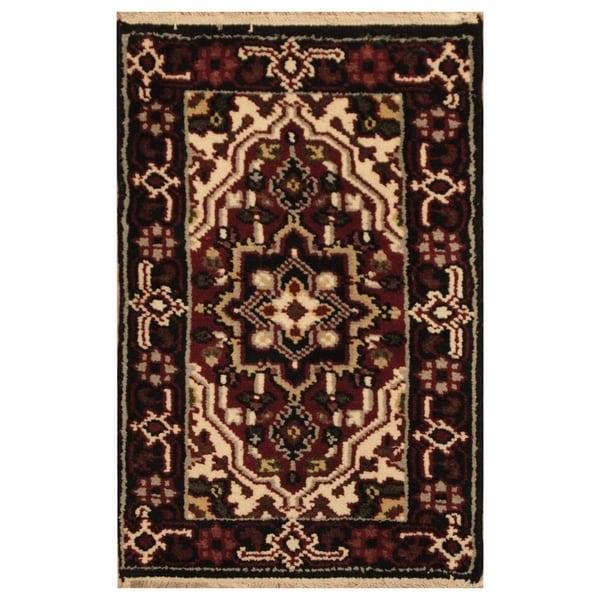 Handmade Serapi Wool Rug (India) - 2' x 3'. Opens flyout.