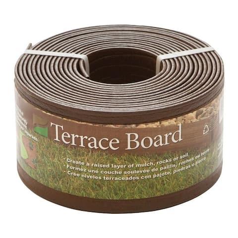 Master Mark Terrace Board 4 in. H x 40 ft. L Lawn Edging Plastic Black