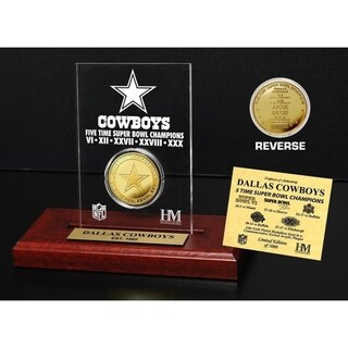 Dallas Cowboys 5x Super Bowl Champs Etched Acrylic