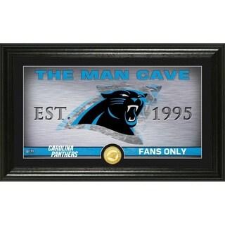"""Carolina Panthers """"Man Cave"""" Panoramic Bronze Coin Photo Mint"""