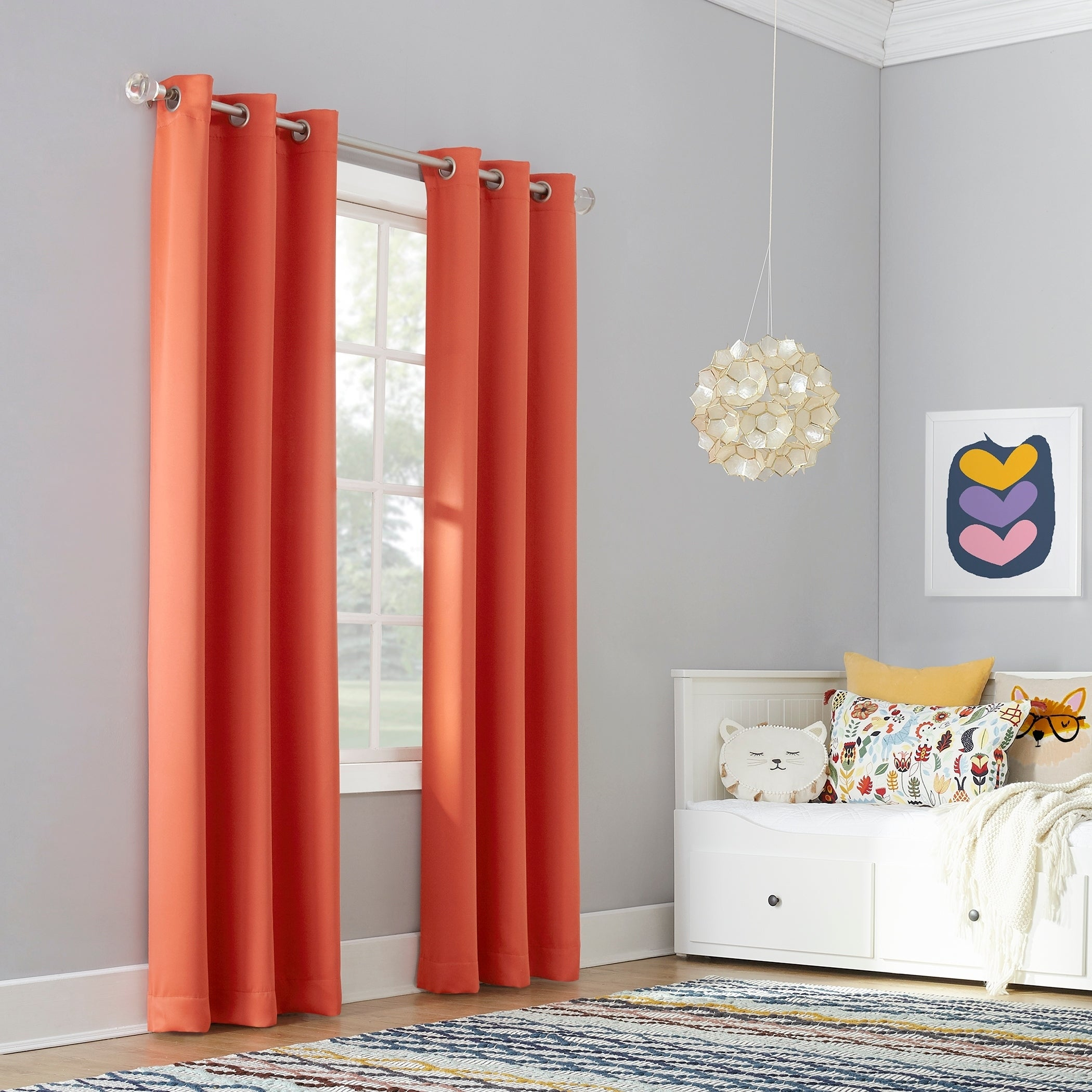 Sun Zero Riley Kids Bedroom Blackout Grommet Curtain Panel