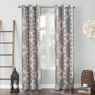 Link to Sun Zero Nepal Global Print Blackout Grommet Curtain Panel Similar Items in Curtains & Drapes