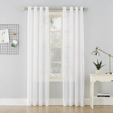 No. 918 Erica Crushed Sheer Voile Grommet Curtain Panel