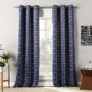 Link to Sun Zero Saki Shibori Print Blackout Grommet Curtain Panel Similar Items in As Is