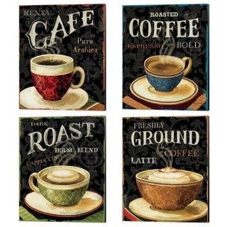 Link to Lisa Audit 'Today's Coffee' Canvas Art (Set of 4) - 12 x 15 Similar Items in Matching Sets