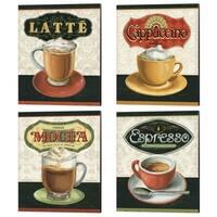 Lisa Audit 'Coffee Moment' Canvas Art (Set of 4)