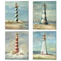 Danhui Nai 'Lighthouse' Canvas Art (Set of 4)