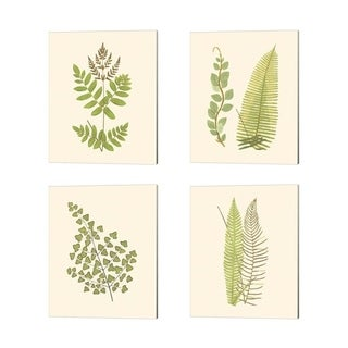 E.J. Lowe 'Woodland Ferns' Canvas Art (Set of 4)