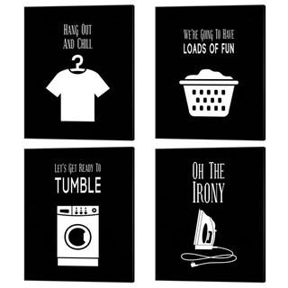 Color Me Happy 'Laundry Puns' Canvas Art (Set of 4)