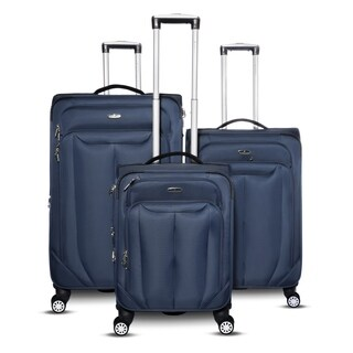 Gabbiano Bellagio Collection 3-Piece Expandable Spinner Luggage Set
