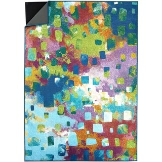 Ruggable Washable Indoor/Outdoor Stain Resistant Pet Area Rug Watercolor Abstract Multi - MultiColor - 5' x 7'
