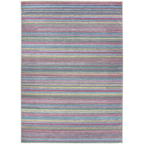 Ruggable Washable Indoor/Outdoor Stain Resistant Pet Area Rug Striped Multicolor - 5' x 7'