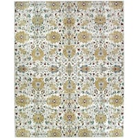 Ruggable Washable Stain Resistant Pet Area Rug Traditional Floral Cream - 8' x 10'