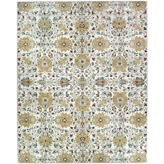 Ruggable Washable Indoor/Outdoor Stain Resistant Pet Area Rug Traditional Floral Cream - 8' x 10'