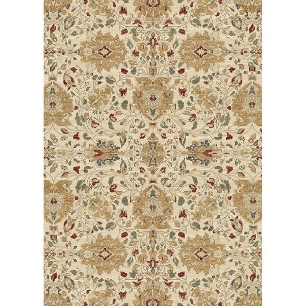 Ruggable Washable Indoor Outdoor Stain Resistant Pet Area Rug Traditional Fl Cream 5