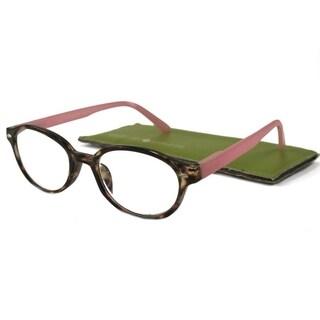 Gabriel + Simone Nanette Tortoise Pink Women Reading Glasses
