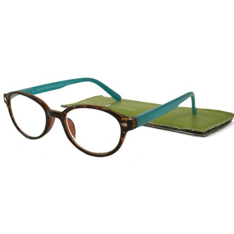 Gabriel + Simone Nanette Tortoise Aqua Women Reading Glasses - Blue