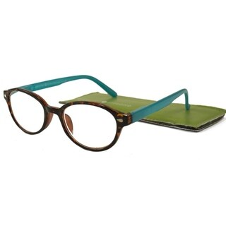 Gabriel + Simone Nanette Tortoise Aqua Women Reading Glasses - Blue
