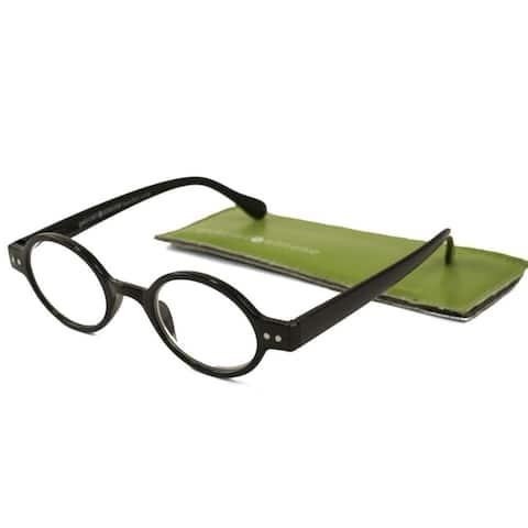 Gabriel + Simone Remi Shiny Black Unisex Reading Glasses