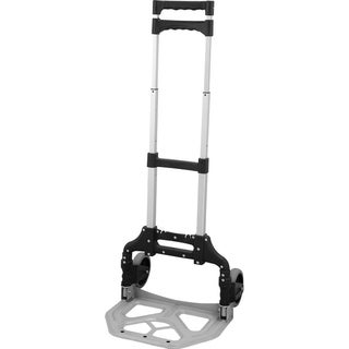 idee Portable 150 lbs. Capacity Aluminum Folding Hand Truck/Dolly (Black)