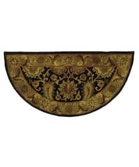 Safavieh Handmade Regal Dark Plum/ Gold Wool Rug - 2'6' x 5'