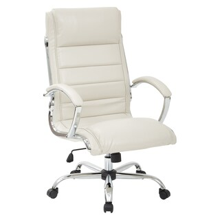 Work Smart Executive Chair with Padded Arms in Faux Leather