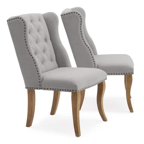Avignon Tufted Dining Chair in Grey by RST Brands