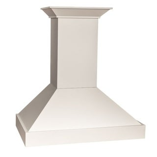 ZLINE 30 in. Wooden Wall Mount Range Hood in White - 760 CFM Motor