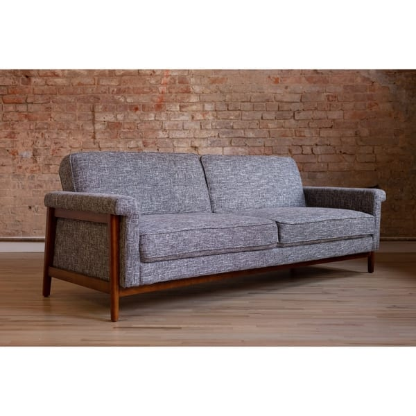 Shop Ainsley Mid-Century Modern Grey Upholstered Sleeper ...