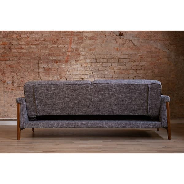 Terrific Shop Ainsley Mid Century Modern Grey Upholstered Sleeper Ncnpc Chair Design For Home Ncnpcorg