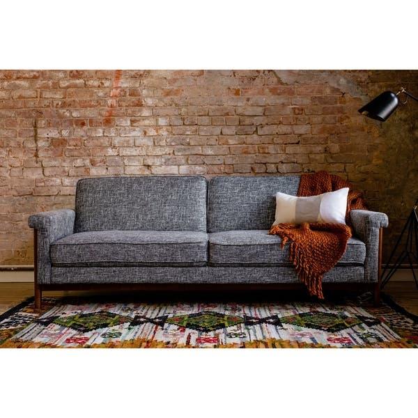Groovy Shop Ainsley Mid Century Modern Grey Upholstered Sleeper Ncnpc Chair Design For Home Ncnpcorg
