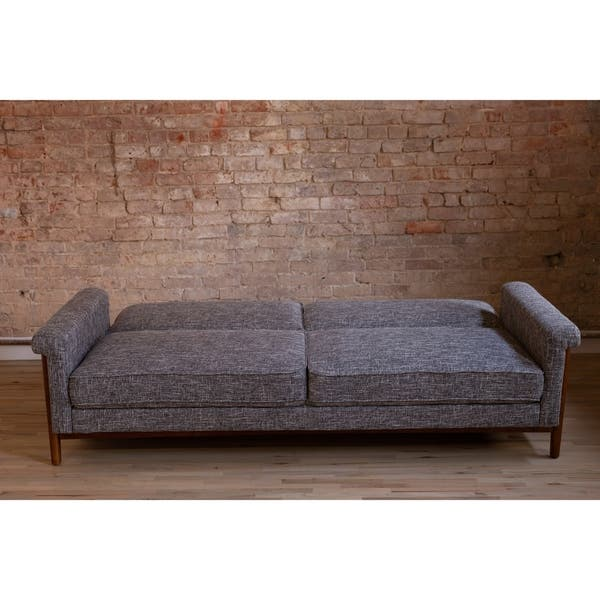 Fabulous Shop Ainsley Mid Century Modern Grey Upholstered Sleeper Ncnpc Chair Design For Home Ncnpcorg