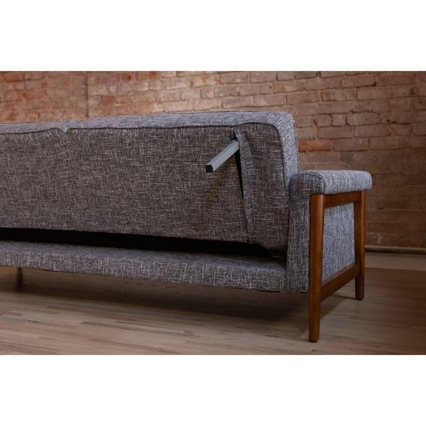 Pleasant Shop Ainsley Mid Century Modern Grey Upholstered Sleeper Pdpeps Interior Chair Design Pdpepsorg