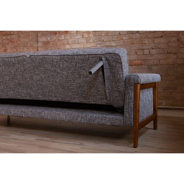 Shop Ainsley Mid-Century Modern Grey Upholstered Sleeper ...