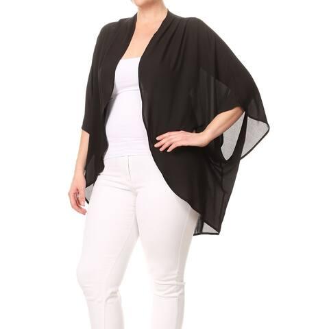 Women's Solid Color Plus Size Cardigan