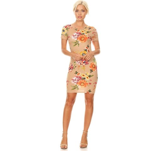 Women's Floral Bodycon Mini Dress