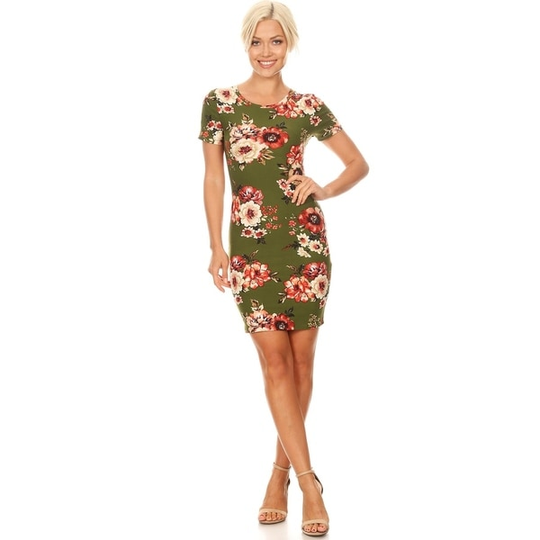 Women's Floral Bodycon Mini Dress. Opens flyout.