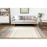 Jani Lee Ivory/Multi Striped Jute and Wool Rug - 5' x 7'