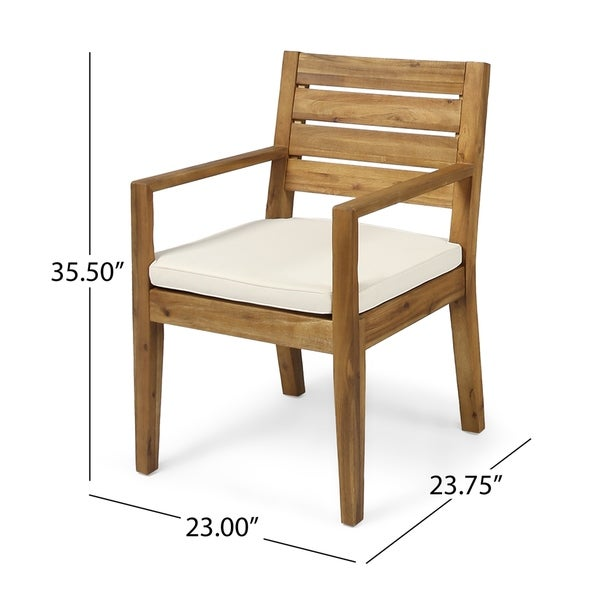 Nestor Outdoor Acacia Wood Dining Chairs by Christopher Knight Home