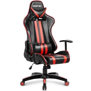 Merax Racing Style Ergonomic Swivel Leather Gaming and Office Chair