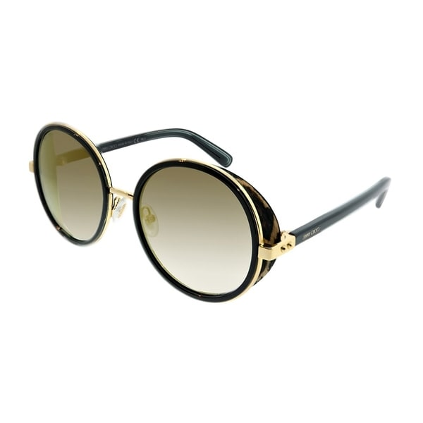 7d78291d03 Jimmy Choo Round JC Andie N 0NQ FQ Women Gold Black Cheetah Frame Gold  Mirror