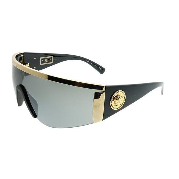 eb21d636543 Versace Shield VE 2197 10006G Unisex Gold Frame Silver Mirror Lens  Sunglasses