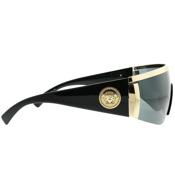 Versace Men/'s VE2197 VE//2197 1000//5A Gold//Black Fashion Shield Sunglasses 40mm