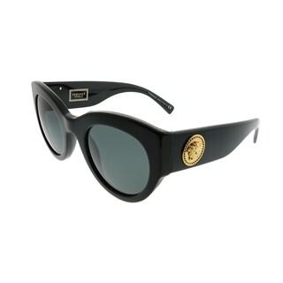 Versace Cat-Eye VE 4353 GB1/87 Women Black Frame Grey Lens Sunglasses