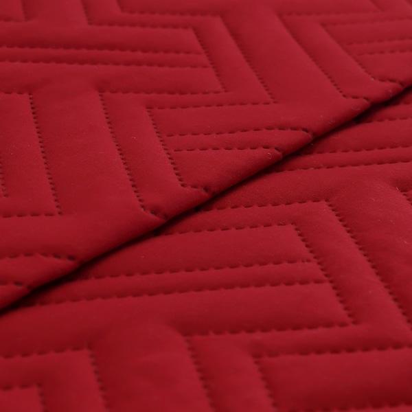 2 Pc Twin Quilt Set Microfiber Embossed Burgundy -Hannah-