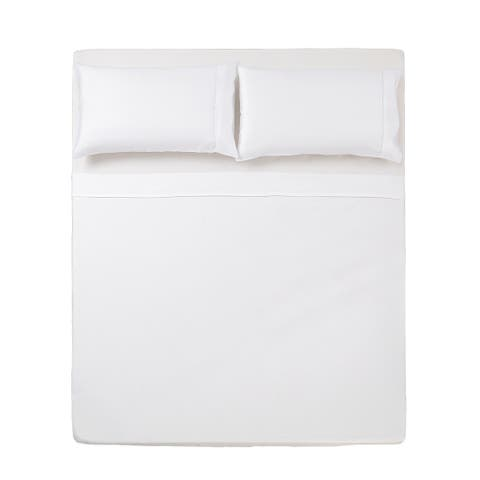 Microfiber Solid 3 Pc Twin Sheet Set White